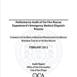 Audit of SDFRD Emergency Medical Dispatch Process