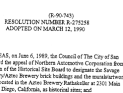 City Council Resolution