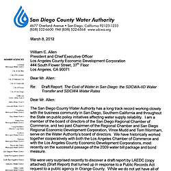 SDCWA Response to the Report