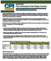 Uninsured In San Diego County