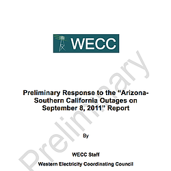 Western Electricity Coordinating Council Report