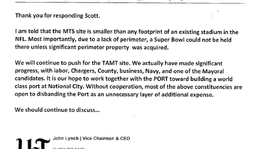 Tease photo: Truncated Email from John Lynch to Scott Peters