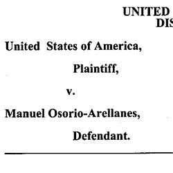 Manuel Osorio-Arellanes Plea Change Agreement