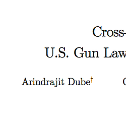 Cross-Border Spillover: U.S. Gun Laws and Viole...