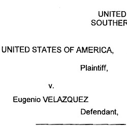 Complaint Against Velazquez