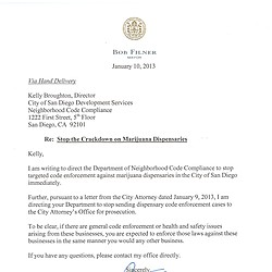 Letter from Mayor Bob Filner