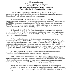 TMD Agreement Signed By Filner