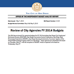 Review of City Agencies FY 2014 BudgetsReview of City Agencies FY 2014 Budgets