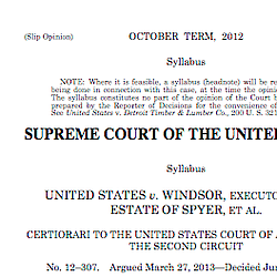 Supreme Court Decision On Defense Of Marriage Act