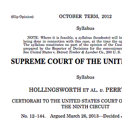 Supreme Court Decision On Proposition 8