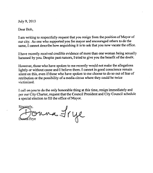 Supporters ask filner to resign over sexual harassment for Sexual harassment letter template