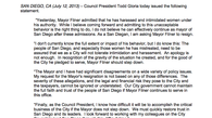 Tease photo: Todd Gloria's Statement