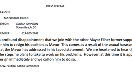 Tease photo: NOW Requests Filner's Resignation