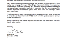 Tease photo: LCVSD Requests Filner's Resignation