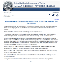 Attorney General Kamala D. Harris' Statement