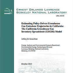 Estimating Policy-Driven Greenhouse  Gas Emissions Trajectories in California