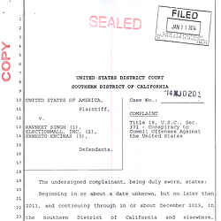 FBI Complaint Against Ravneet Singh and Ernesto Encinas