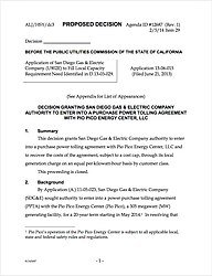 Proposed Decision Before The CPUC