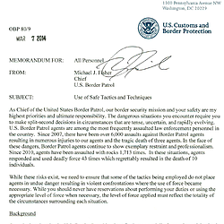 Border Patrol Use-Of-Force Memo
