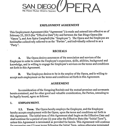 Ann Campbell Employment Agreement