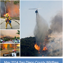 May 2014 San Diego County Wildfires  After Acti...