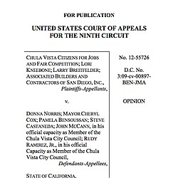 Chula Vista Citizen's For Jobs v. Donna Norris