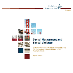 California State Auditor Report sexual assault efforts