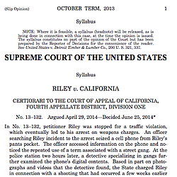 Riley v. California Supreme Court Opinion