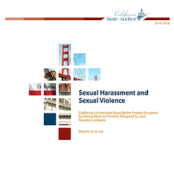 CA State Auditor Report On Sexual Harassment and Sexual Violence