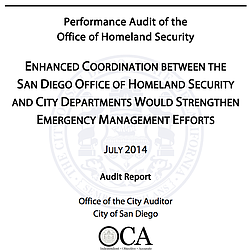 Performance Audit of the Office of Homeland Security