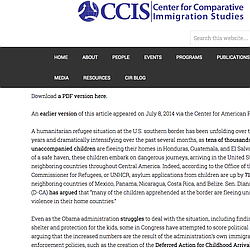 Statistical Analysis On Child Immigrant Crisis
