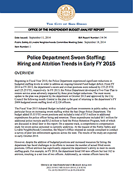 IBA Report On SDPD Staffing
