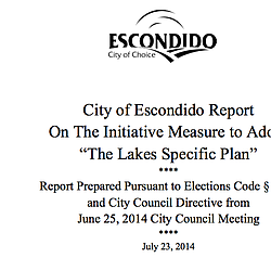 City Of Escondido Report On Measure H