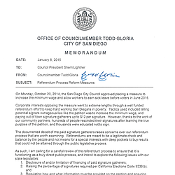 Todd Gloria Memo on Referendums