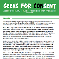 GeeksForCONsent Comic-Con Audit
