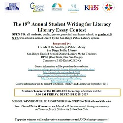 SDPL Essay Contest Flyer