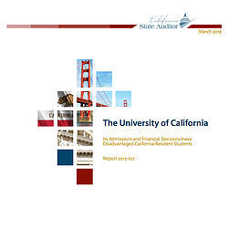 State Audit On UC Enrollment