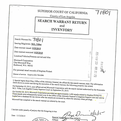 A Search Warrant Issued During The San Onofre P...