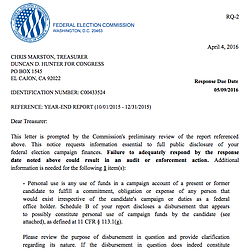 Federal Election Commission Letter
