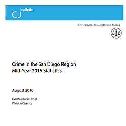 SANDAG Report Of Crime Rates In San Diego