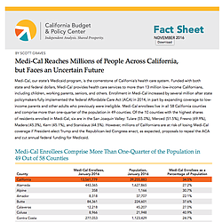 Medi-Cal Fact Sheet