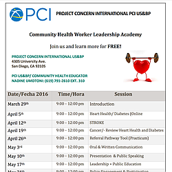 Community Health Worker Leadership Academy Sche...