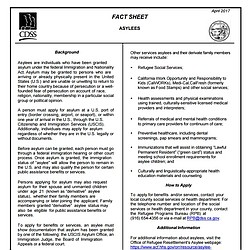 California Public Assistance Fact Sheet