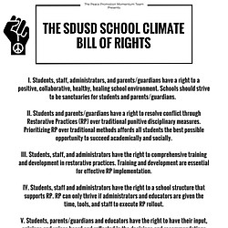 School Climate Bill of Rights