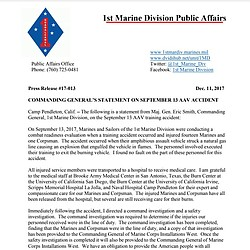 Commanding General's Statement On September 13...