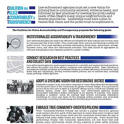 CPAT's Principles for Improved Policing