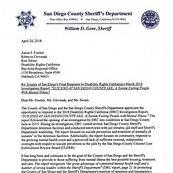 San Diego's Response to Jail Suicide Report