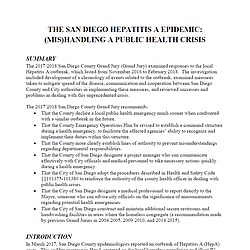 THE SAN DIEGO HEPATITIS A EPIDEMIC: (MIS)HANDLI...