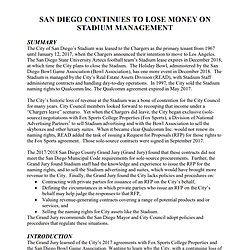San Diego Continues to Lose Money on Stadium Ma...