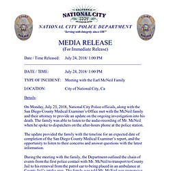National City Police Department media release r...